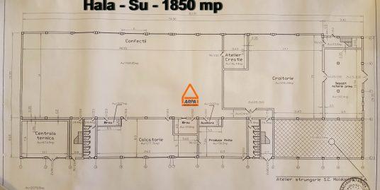 Hala / Spatiu / Birouri – 2120 mp, productie , depozitare – Semicentral