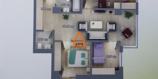 Apartament Nou 3 cam. – 68 mp, Bloc Nou,Canta-Pacurari